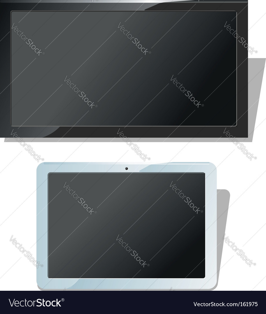 Displays set vector | Price: 1 Credit (USD $1)