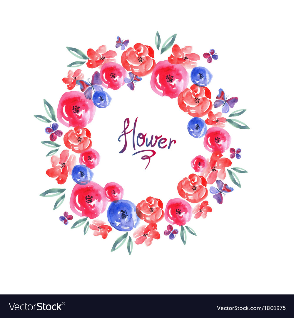 Floral frame invitation card vignette vector | Price: 1 Credit (USD $1)