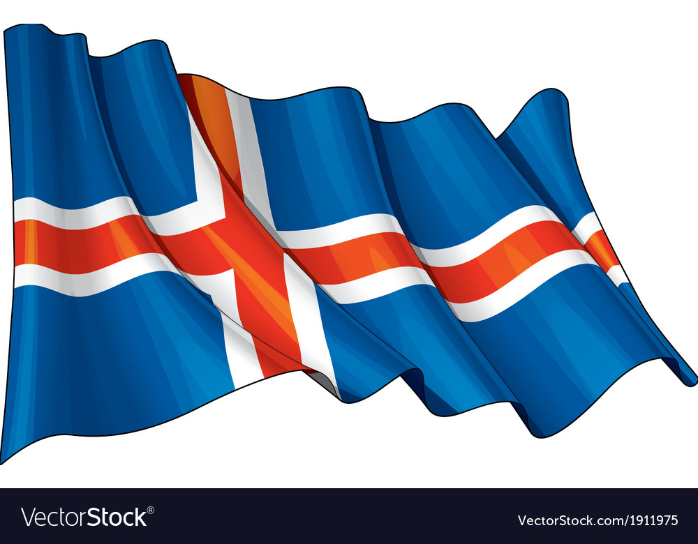 Iceland flag grunge vector | Price: 1 Credit (USD $1)