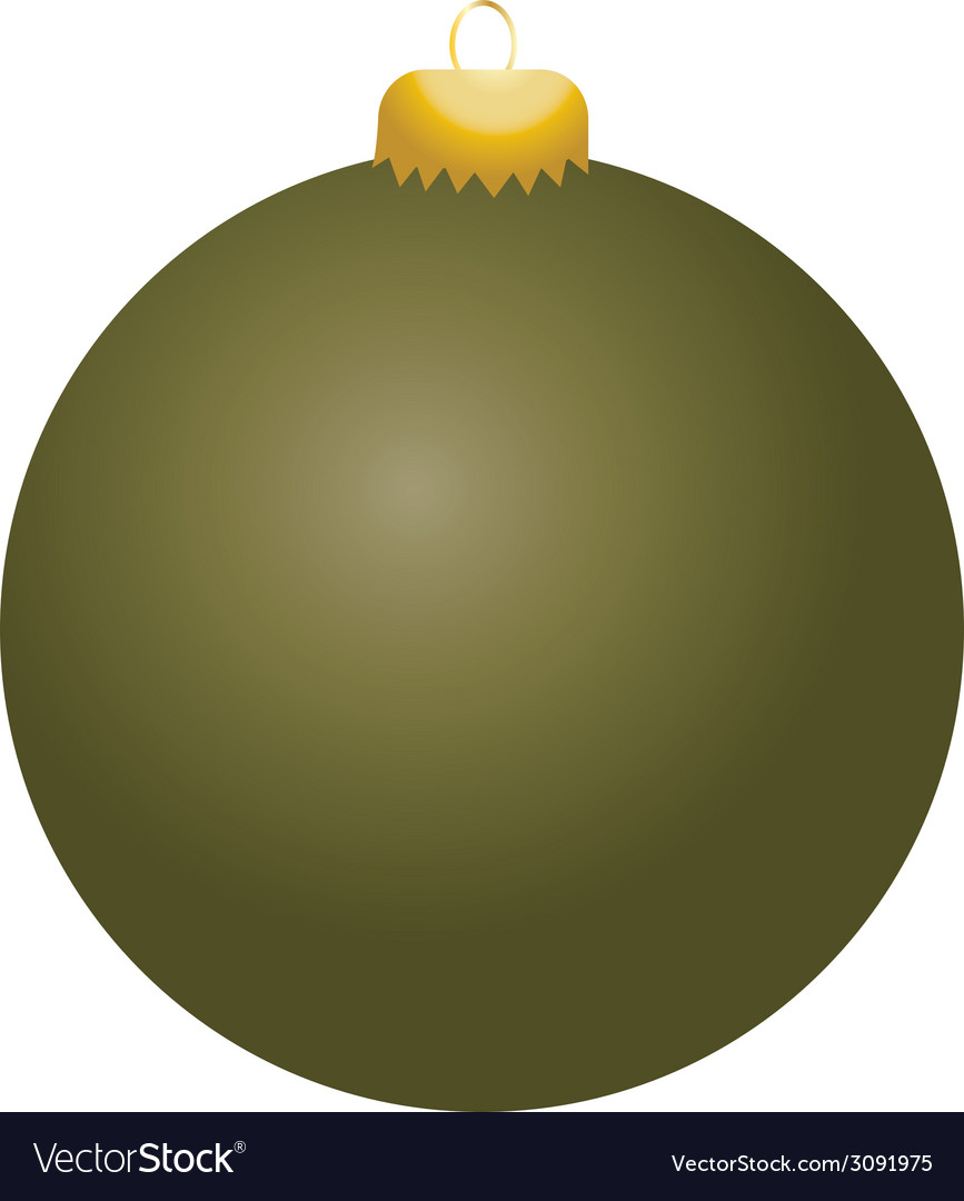Olive ball ornament vector   Price: 1 Credit (USD $1)