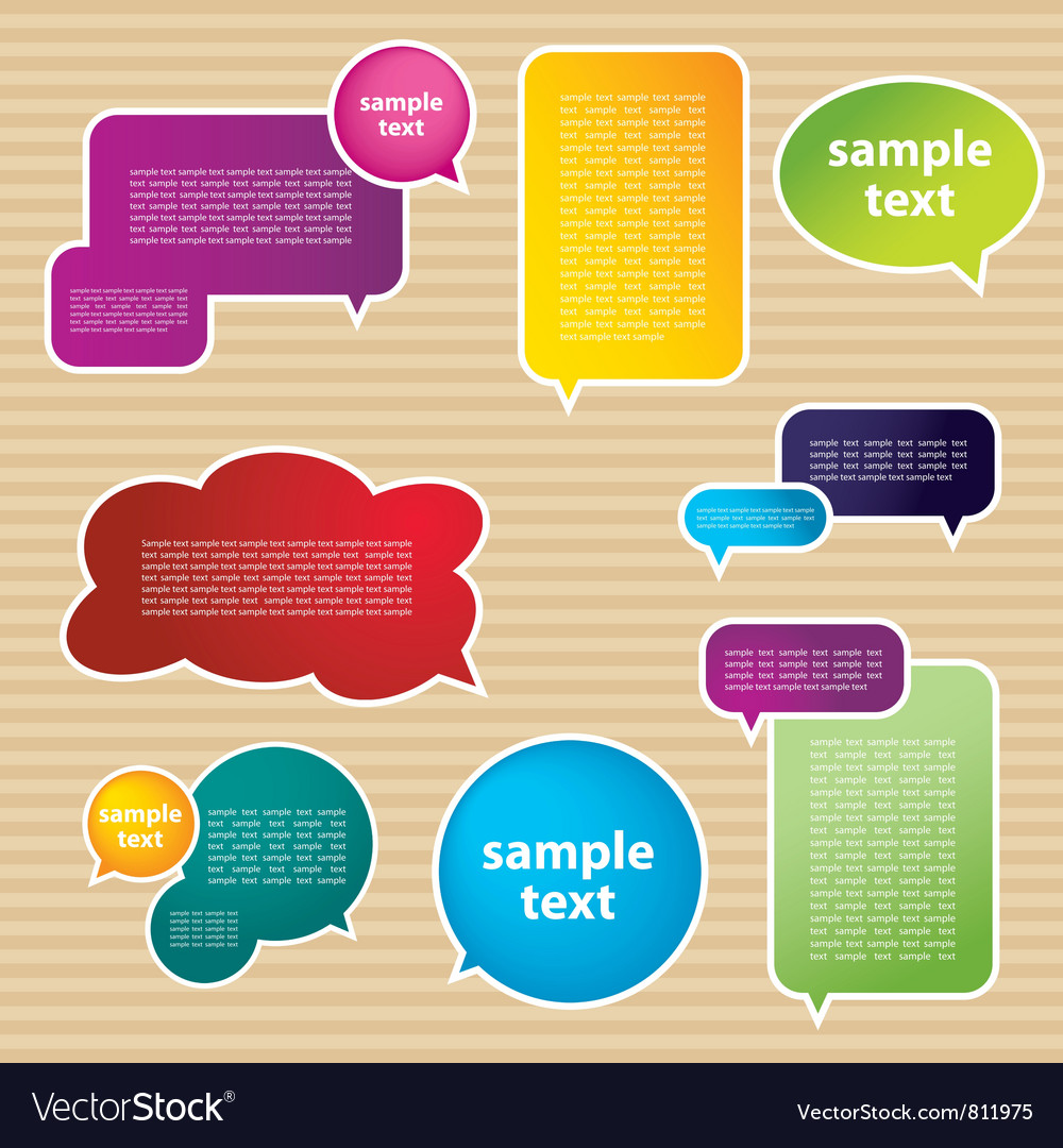 Various speech bubbles vector | Price: 1 Credit (USD $1)