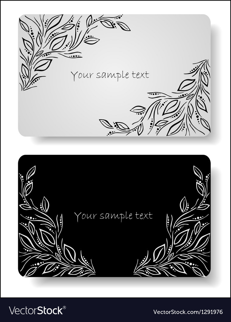 Abstract floral cards vector | Price: 1 Credit (USD $1)