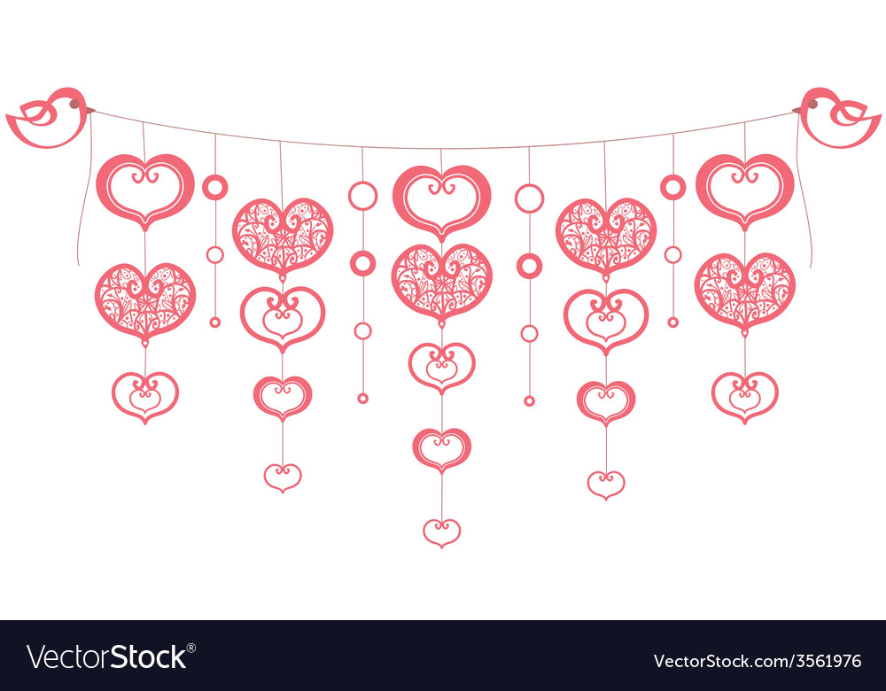 Background with red hearts vector | Price: 1 Credit (USD $1)