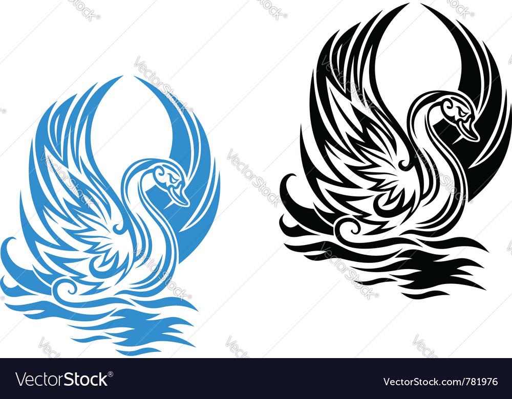 Beautiful swan vector | Price: 1 Credit (USD $1)