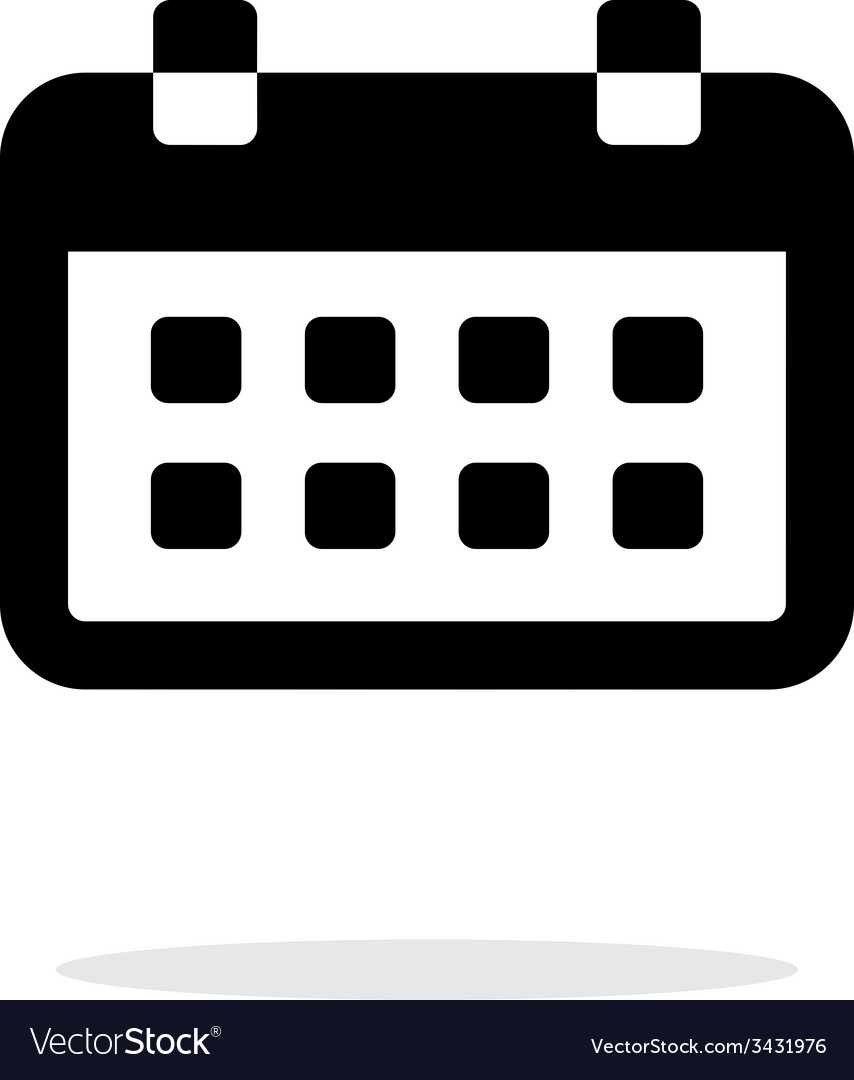 Calendar simple icon on white background vector | Price: 1 Credit (USD $1)