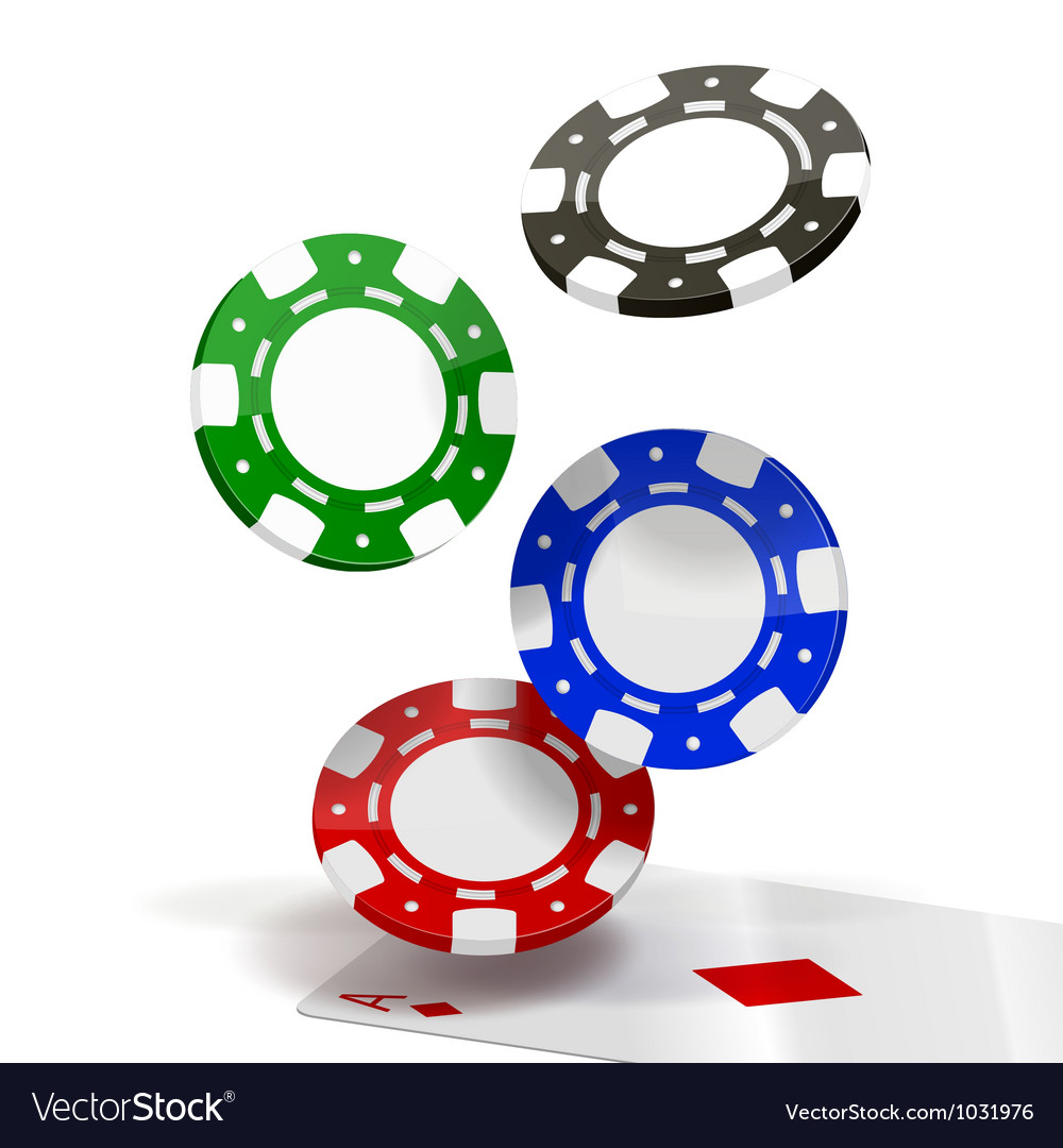 Falling poker chips vector | Price: 1 Credit (USD $1)
