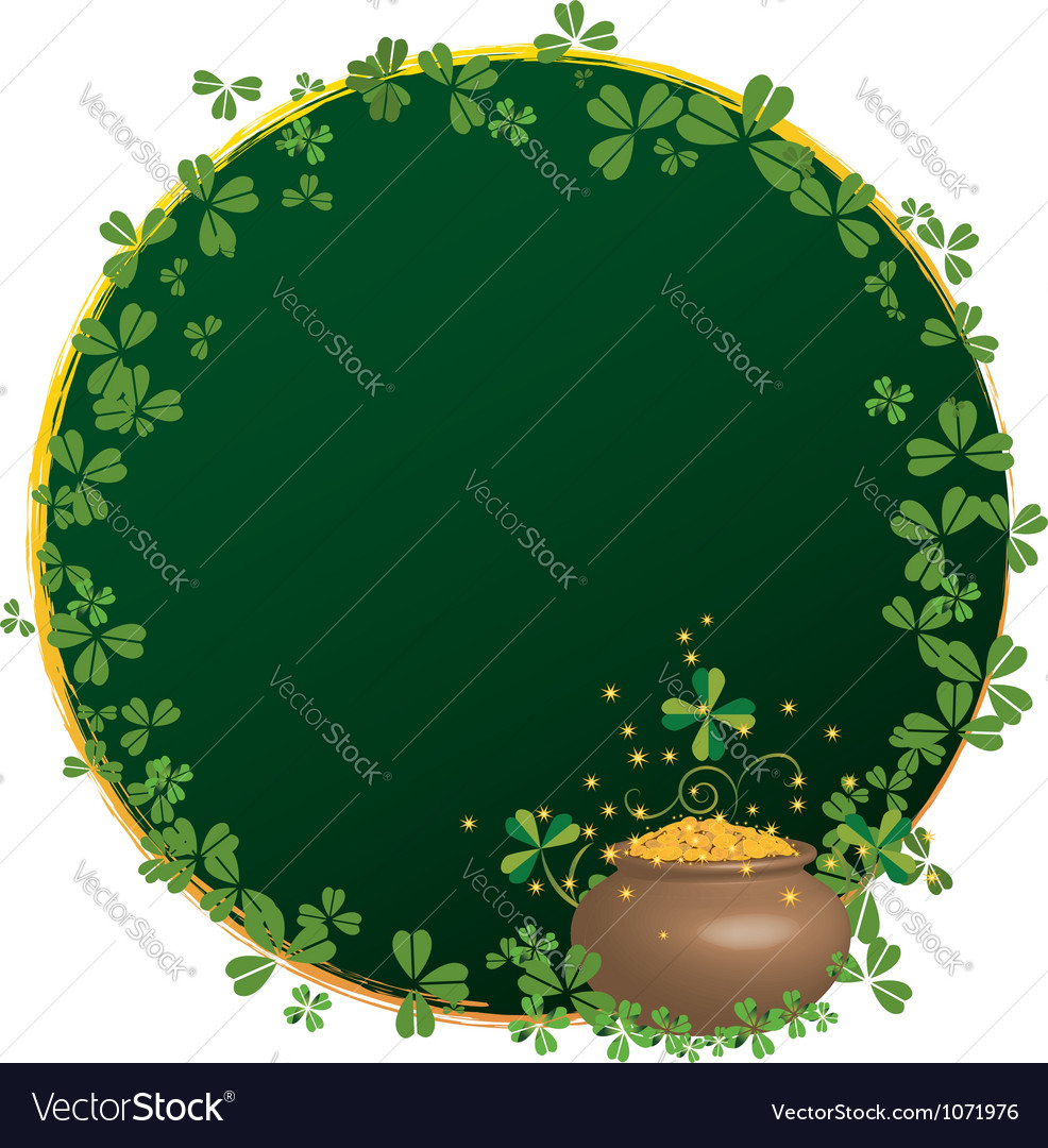 Frame for st patricks day vector | Price: 1 Credit (USD $1)