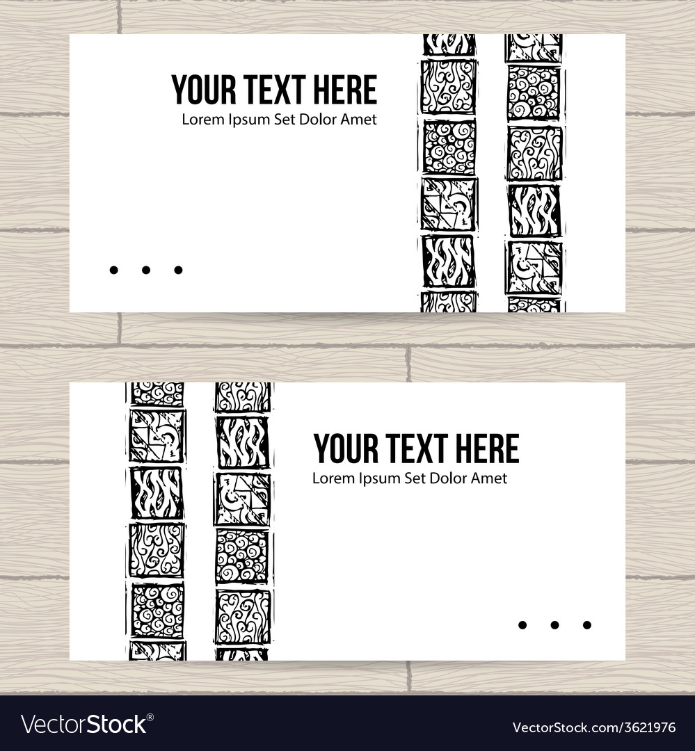 Set of business cards with patterns vector | Price: 1 Credit (USD $1)
