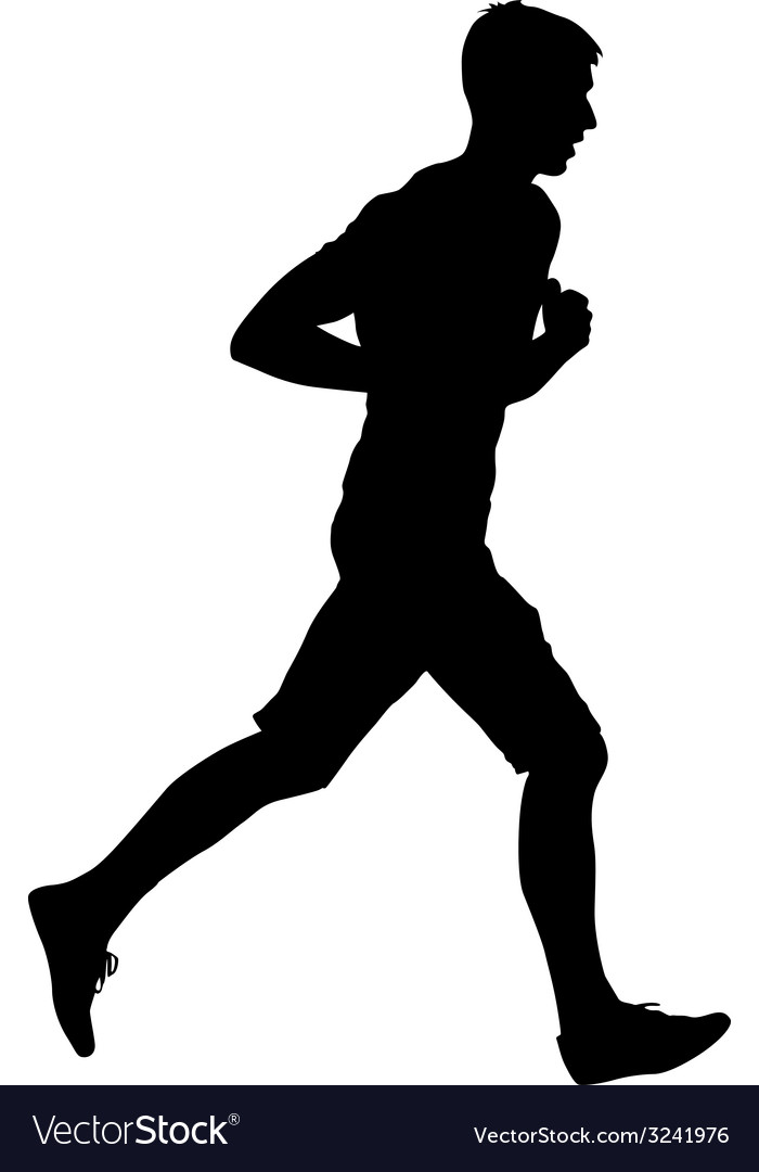 Silhouettes runners on sprint men vector | Price: 1 Credit (USD $1)