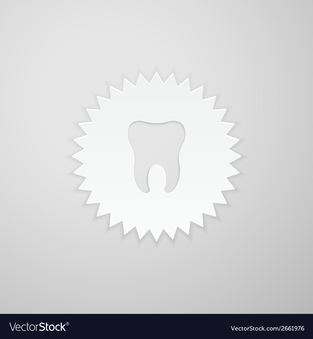 Tooth shape on the background of the circle with vector | Price: 1 Credit (USD $1)