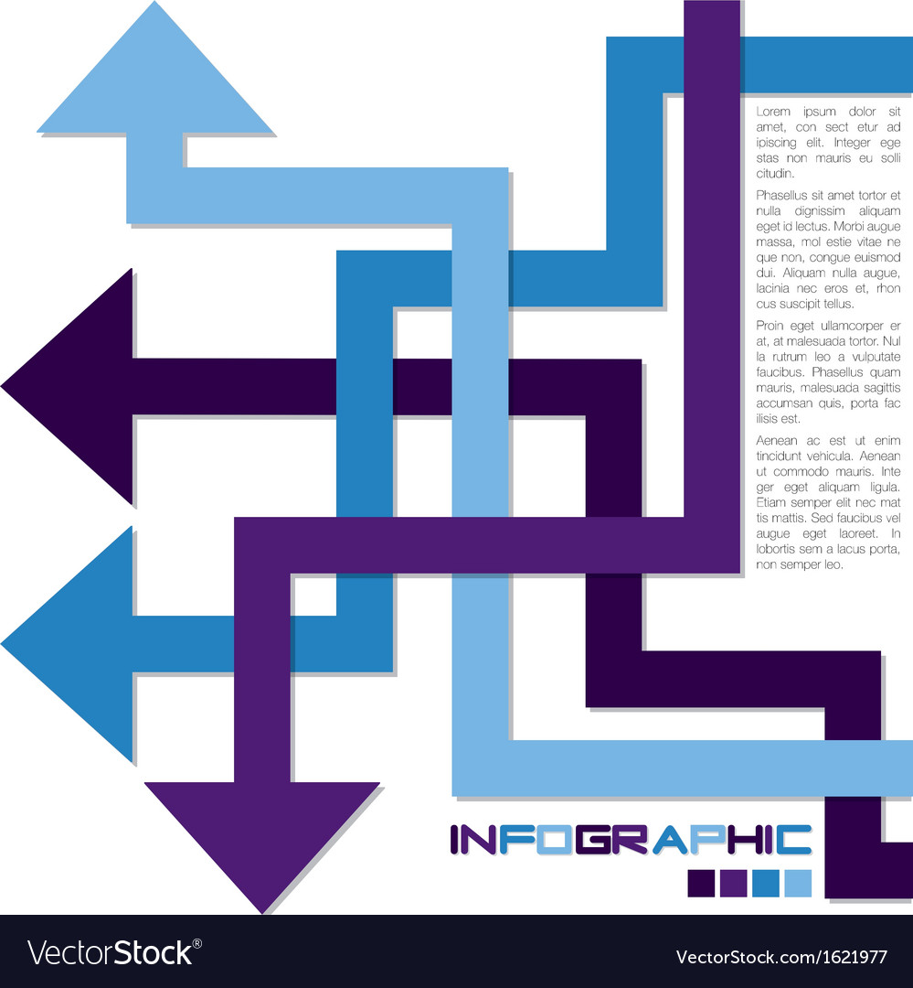 Arrow infographics vector | Price: 1 Credit (USD $1)