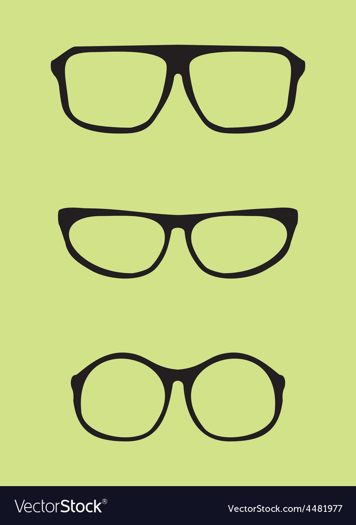 Black nerd secretary or teacher glasses vector | Price: 1 Credit (USD $1)