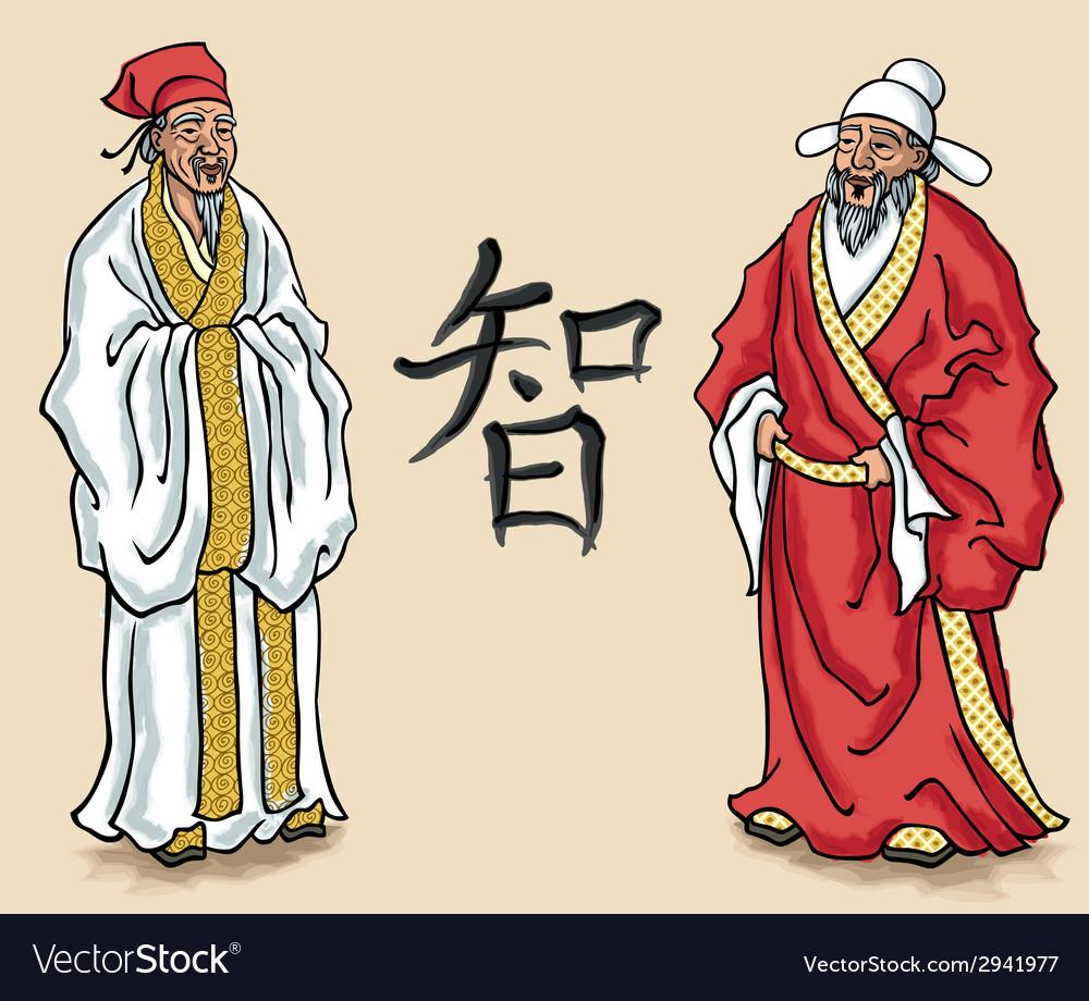 Chinese elders vector | Price: 1 Credit (USD $1)