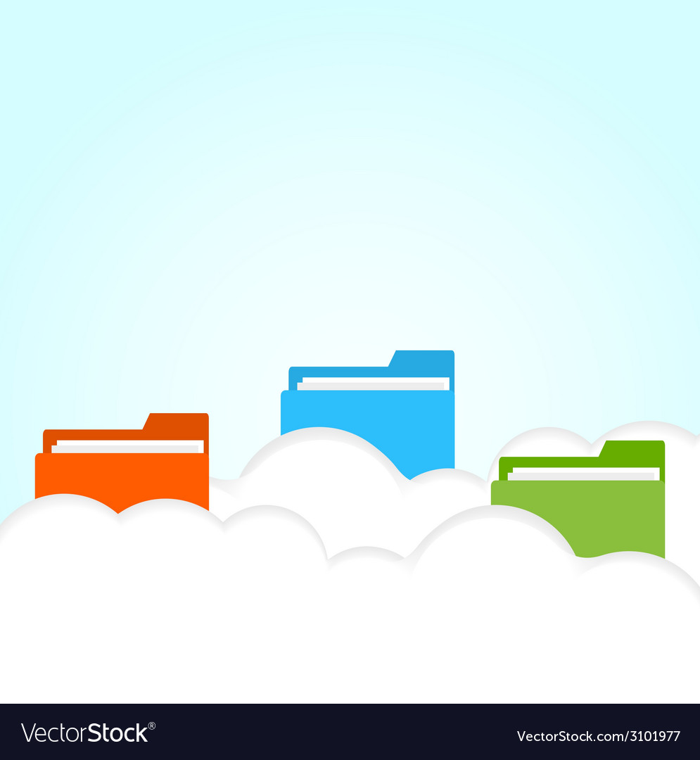 Cloud folder vector | Price: 1 Credit (USD $1)