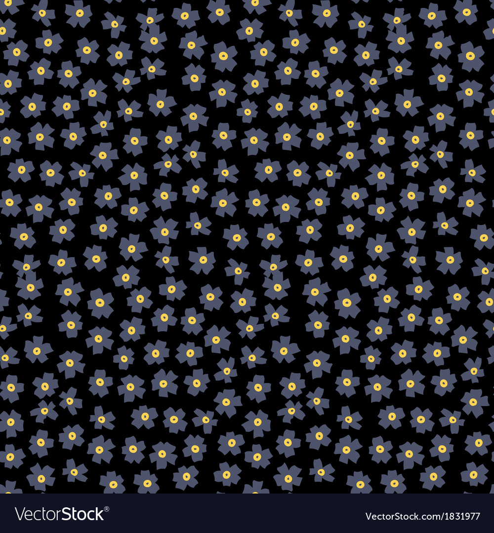 Ditsy floral pattern with small grey flowers vector | Price: 1 Credit (USD $1)