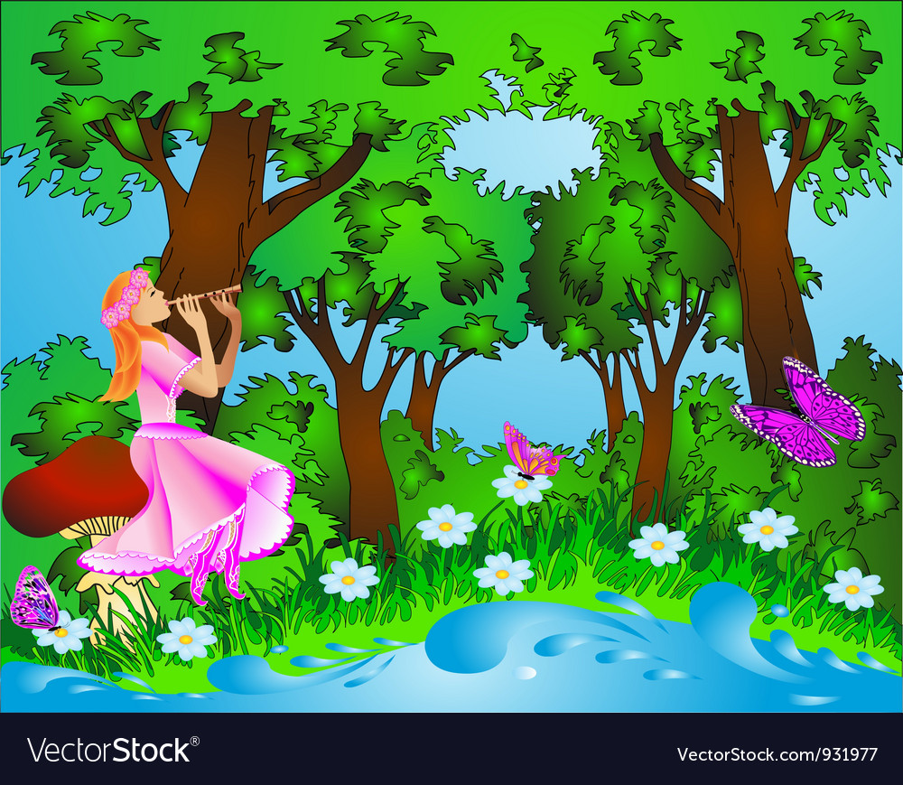 Fairyland background vector | Price: 3 Credit (USD $3)