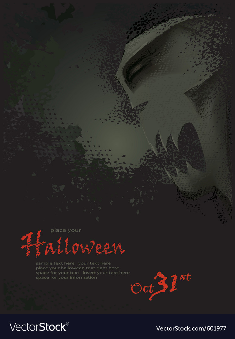 Halloween template with skeleton vector | Price: 1 Credit (USD $1)