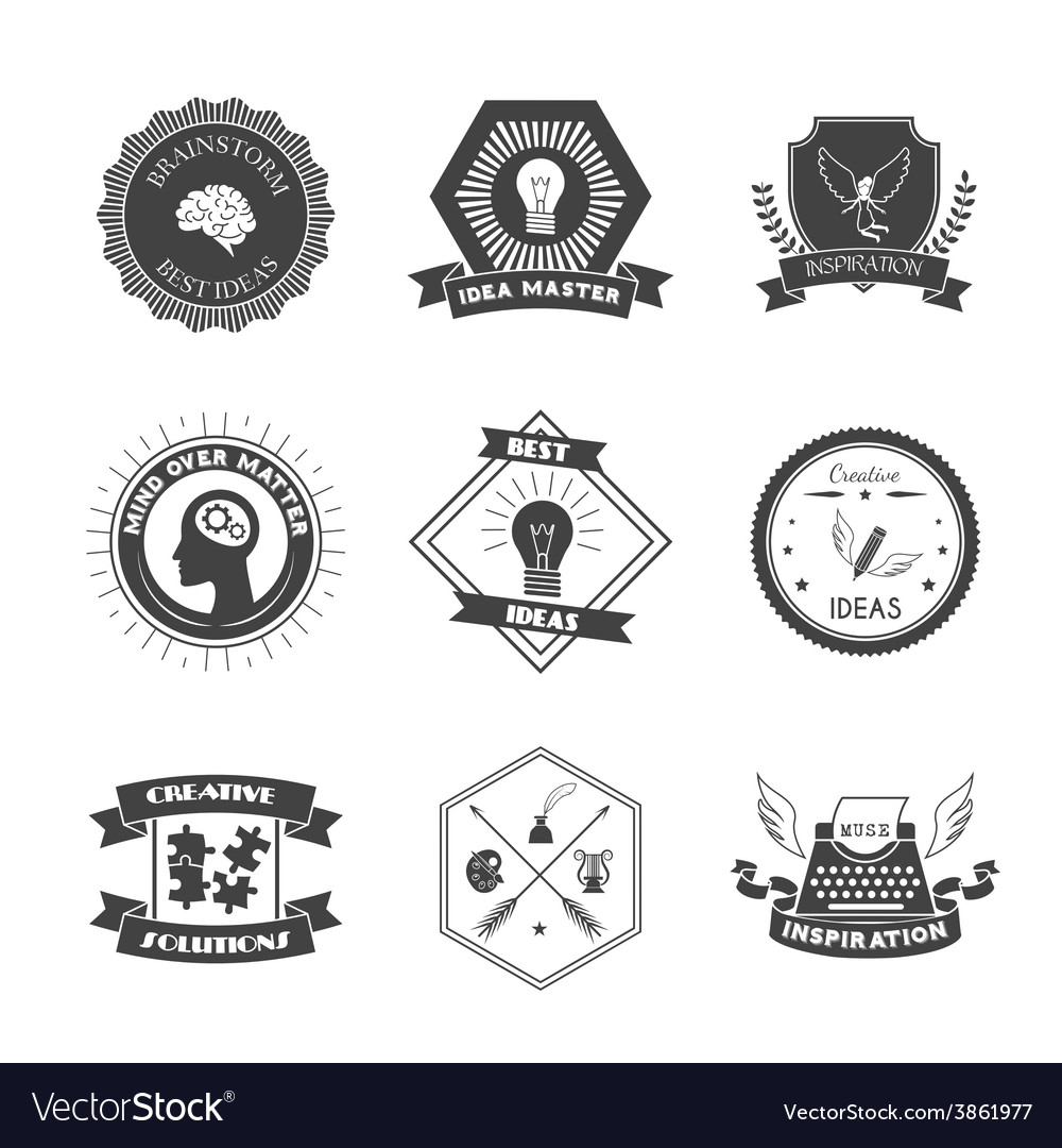 Muse label set vector