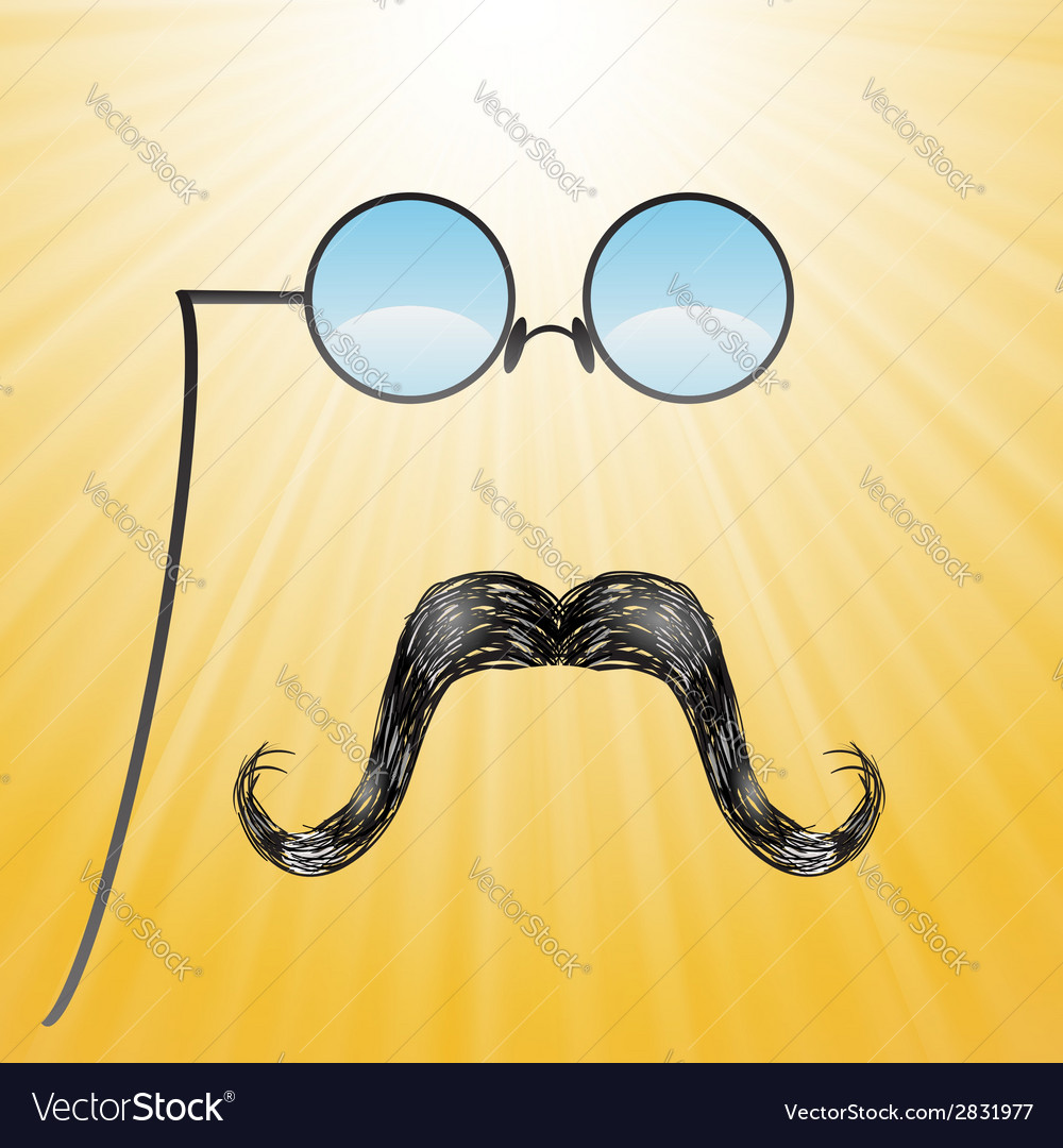 Mustaches and glasses vector | Price: 1 Credit (USD $1)