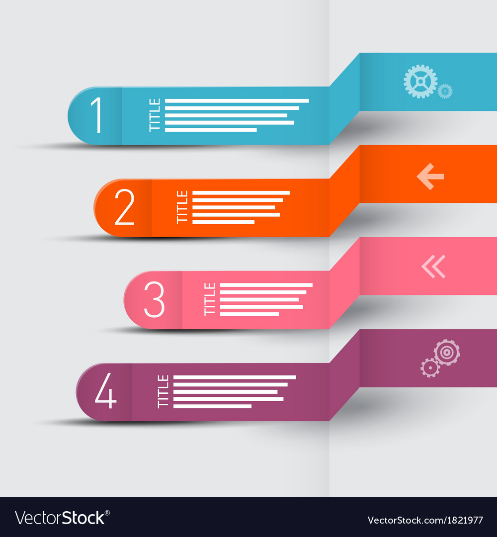 Paper progress steps for tutorial infographics vector | Price: 1 Credit (USD $1)