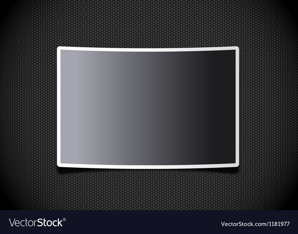 Photo frame on grid background vector | Price: 1 Credit (USD $1)