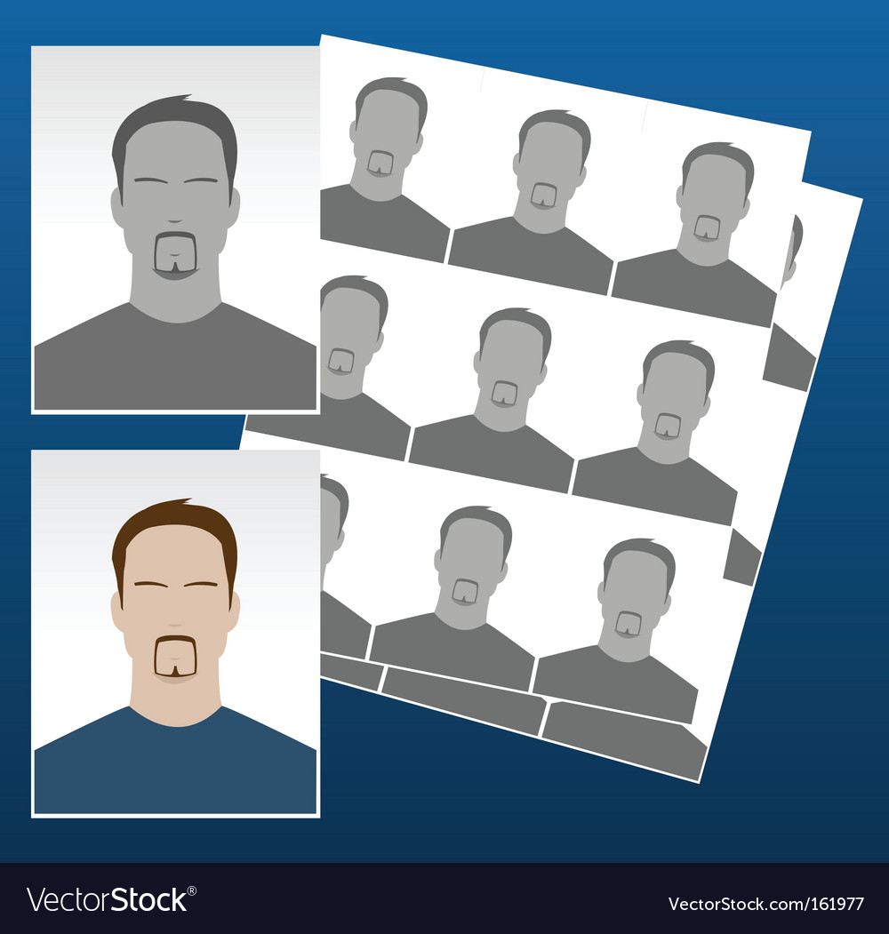 Photo icons with faces vector | Price: 1 Credit (USD $1)