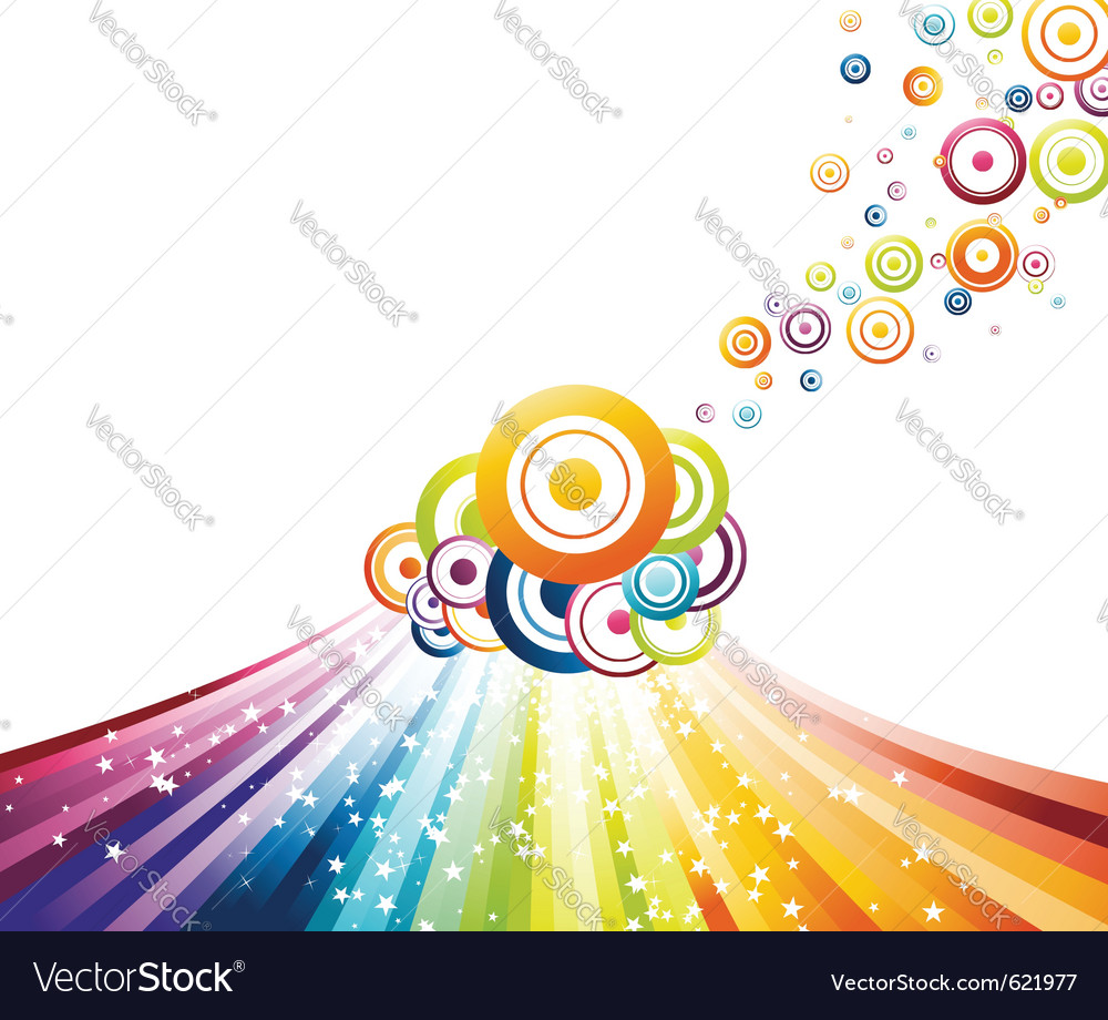 Refreshing rainbow wave vector | Price: 1 Credit (USD $1)