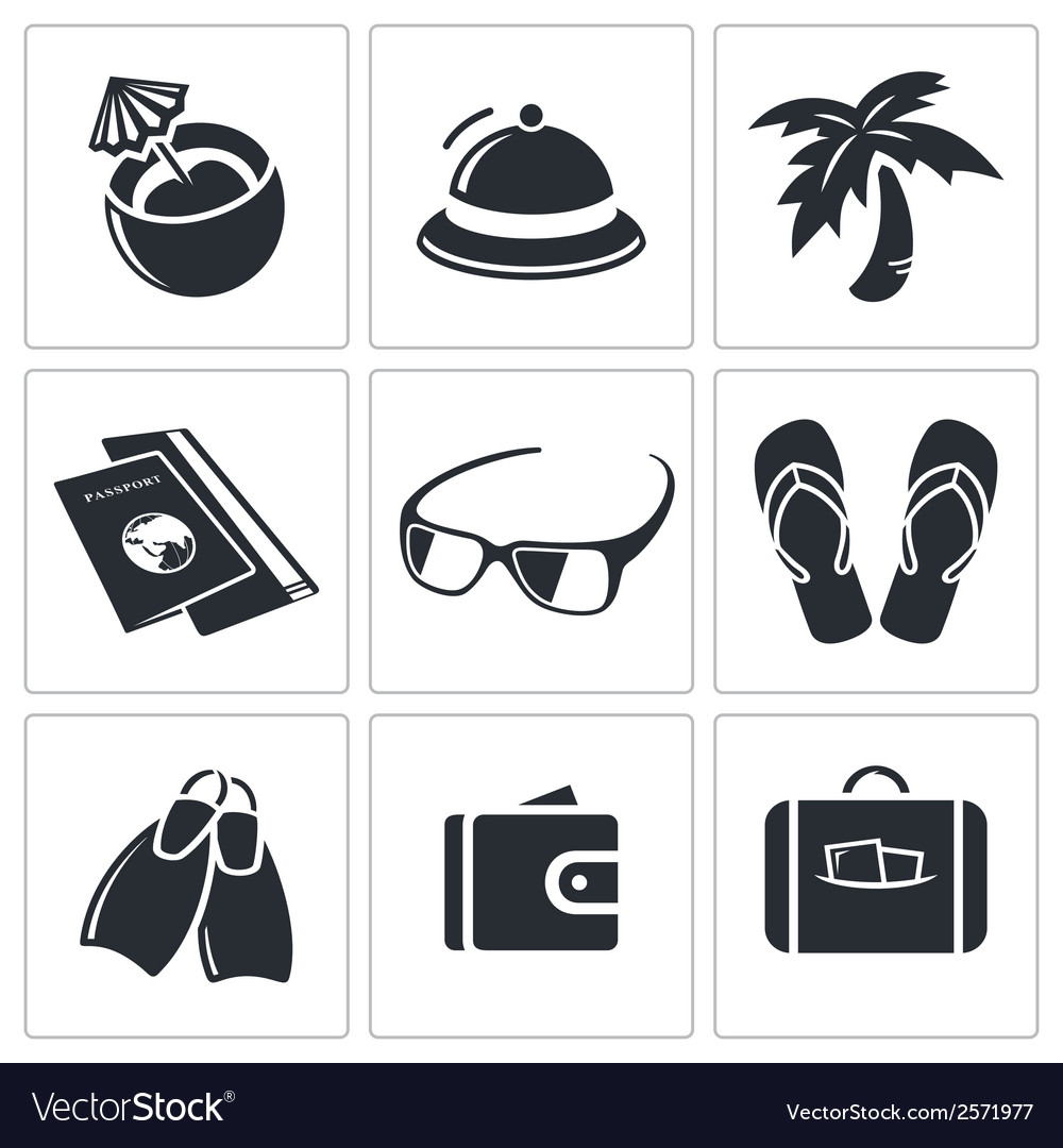 Travel icon collection vector | Price: 1 Credit (USD $1)