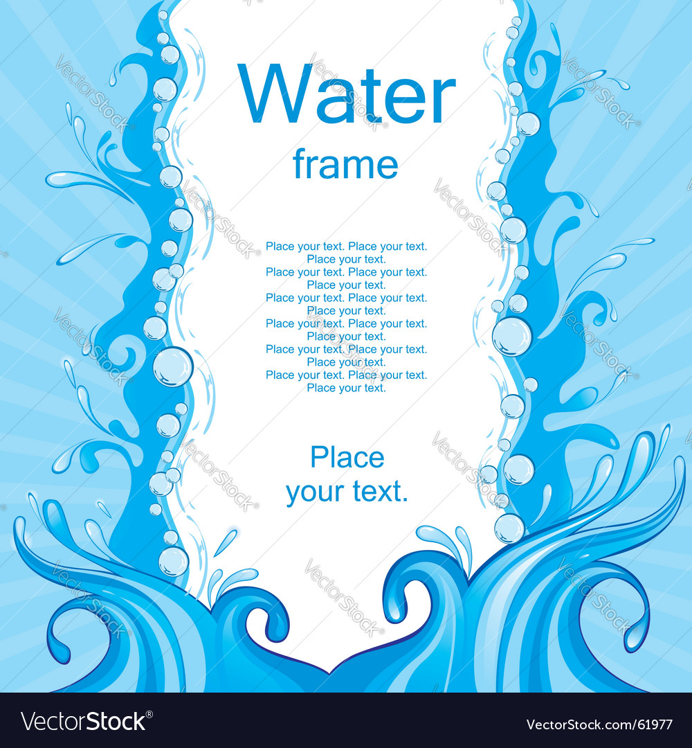 Water frame vector | Price: 1 Credit (USD $1)