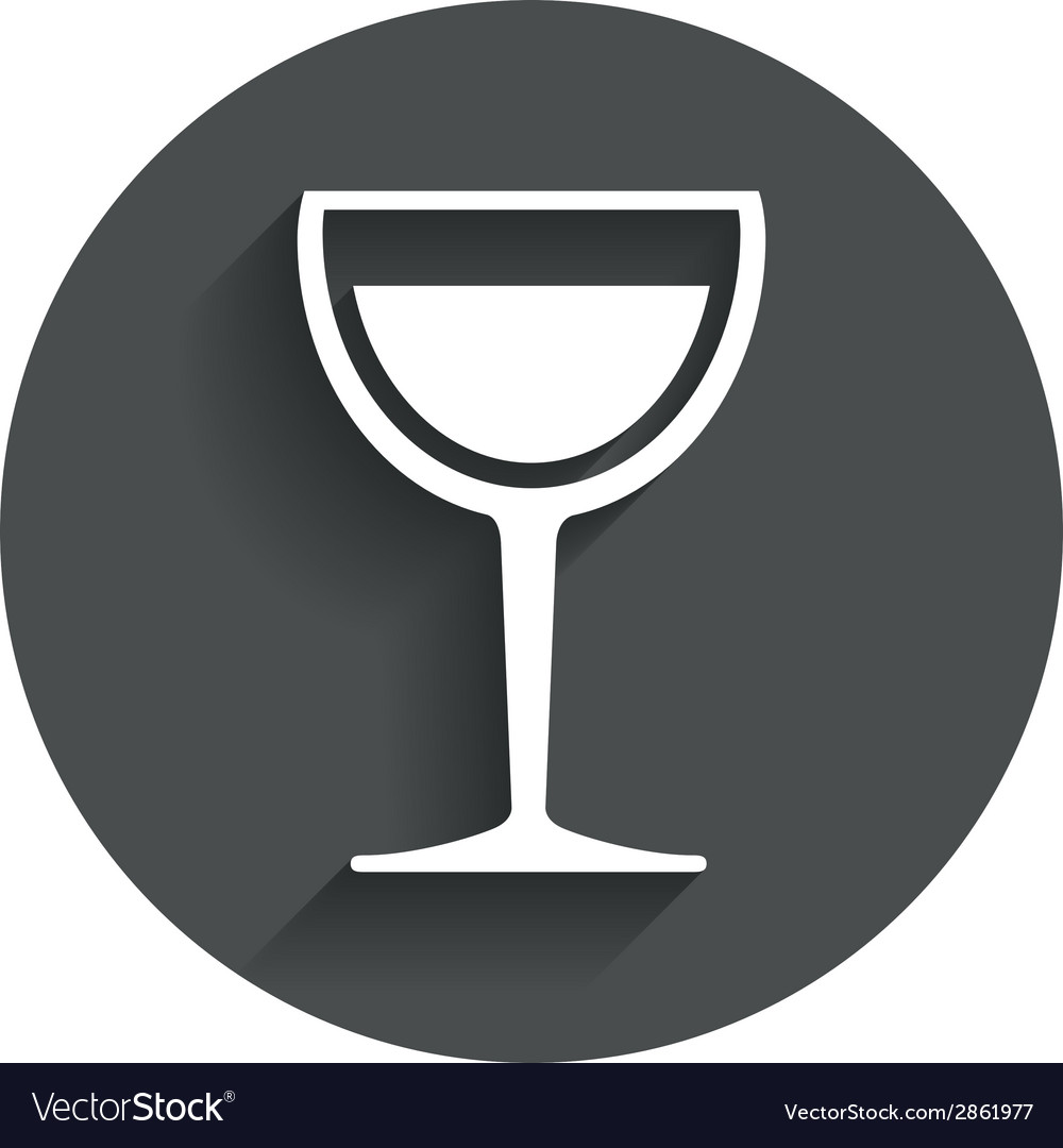 Wine glass sign icon alcohol drink symbol vector | Price: 1 Credit (USD $1)