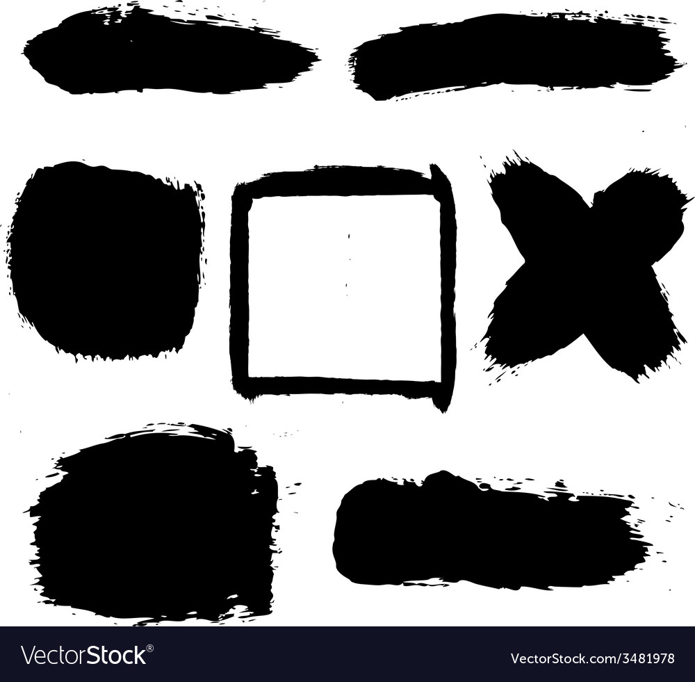 Black blobs set vector | Price: 1 Credit (USD $1)