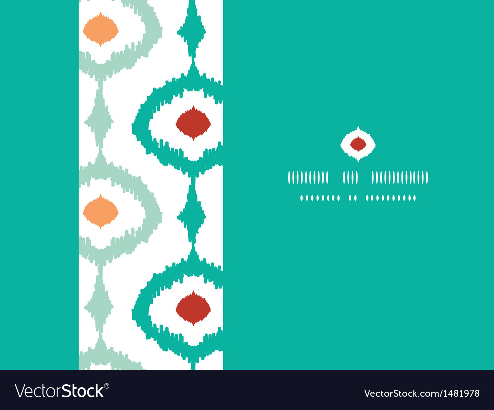 Colorful chain ikat frame horizontal seamless vector | Price: 1 Credit (USD $1)