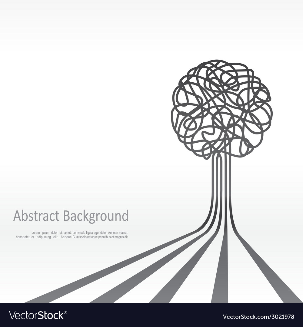 Concept of tree background design vector | Price: 1 Credit (USD $1)