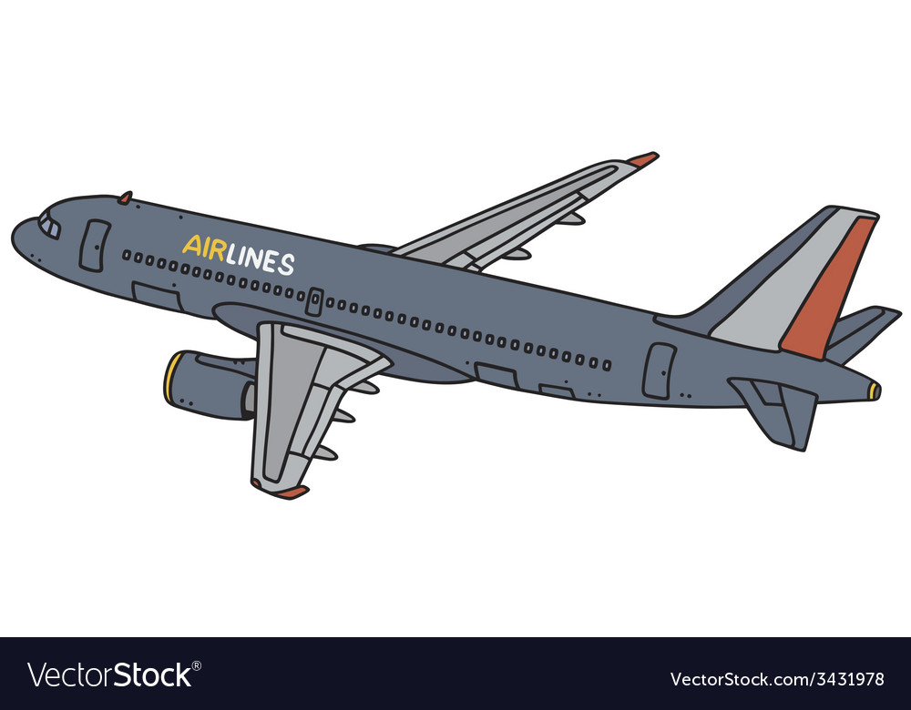 Dark blue airliner vector | Price: 1 Credit (USD $1)