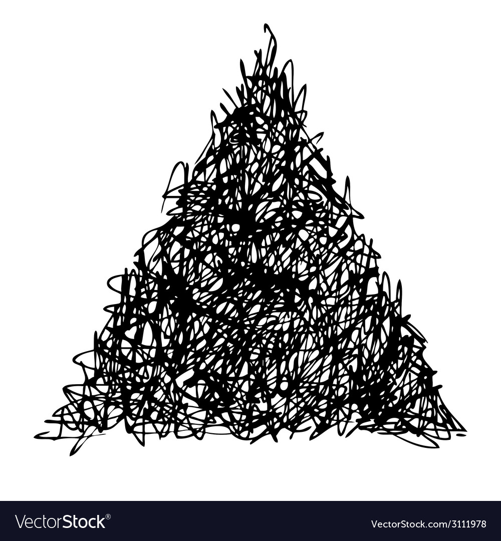 Doodle trlangle vector | Price: 1 Credit (USD $1)