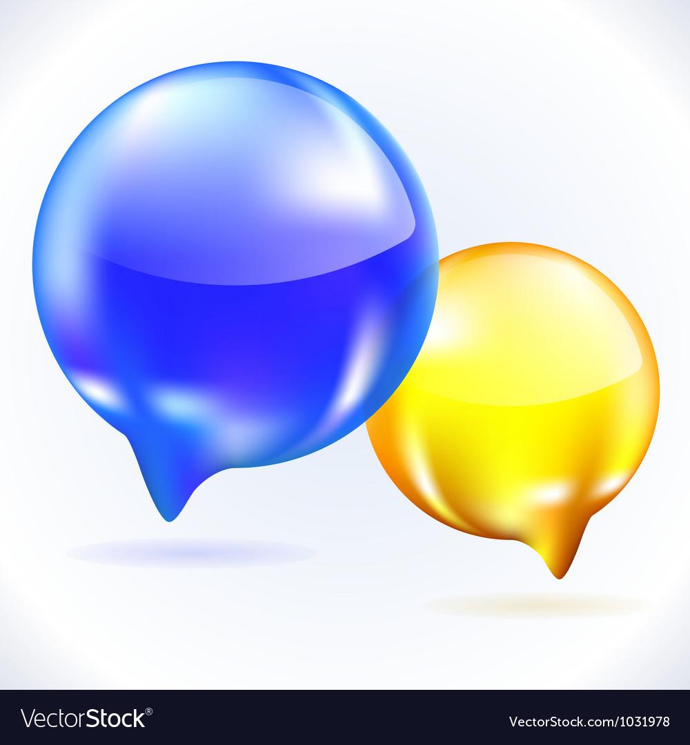 Glass speech bubbles vector | Price: 1 Credit (USD $1)