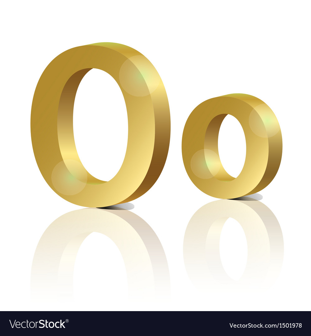 Golden letter o vector | Price: 1 Credit (USD $1)