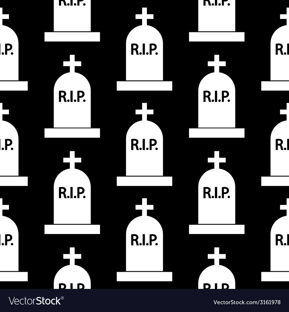 Grave icon seamless pattern vector | Price: 1 Credit (USD $1)