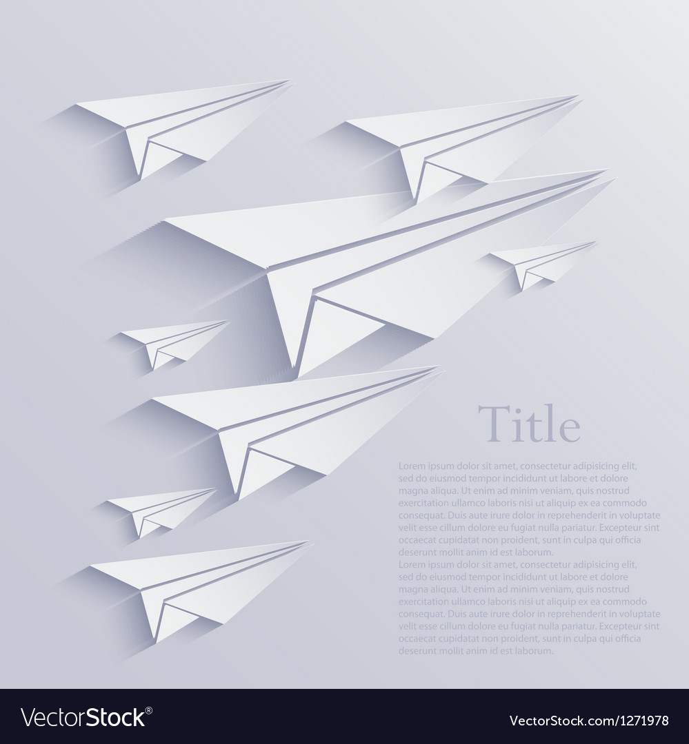 Origami airplane icon background vector | Price: 1 Credit (USD $1)