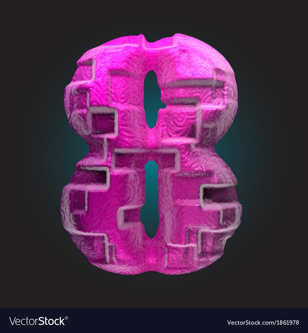 Pink plastic figure 8 vector | Price: 1 Credit (USD $1)