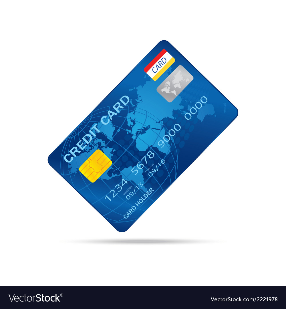 Popular blue premium extended business credit card vector | Price: 1 Credit (USD $1)