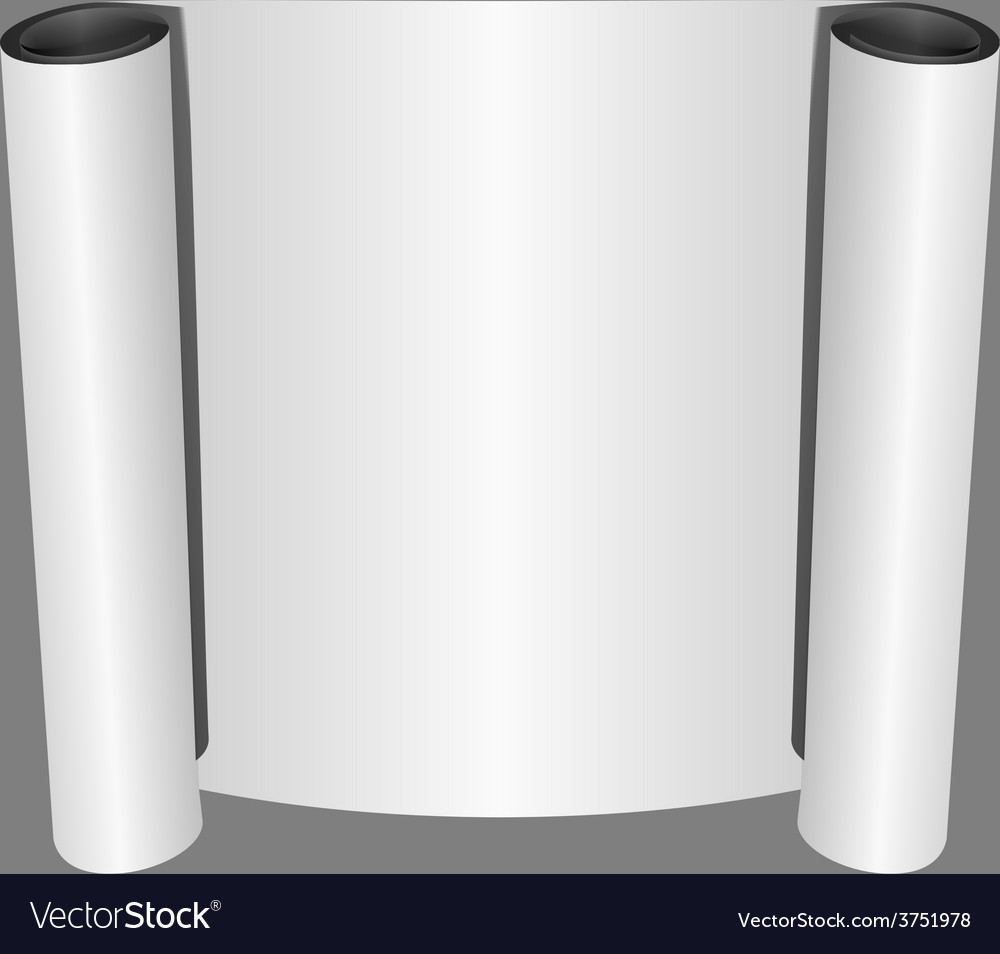Roll of blank white paper vector | Price: 1 Credit (USD $1)