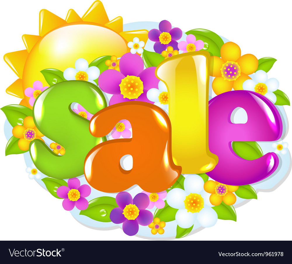 Spring sale sign vector | Price: 1 Credit (USD $1)