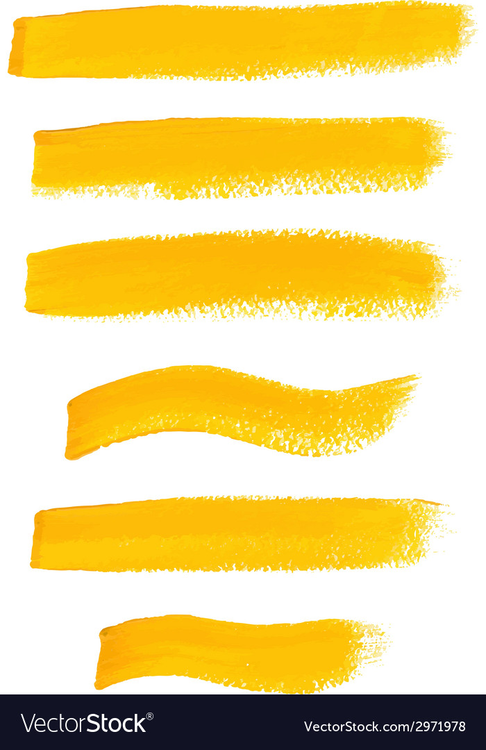 Yellow ink brush strokes vector | Price: 1 Credit (USD $1)