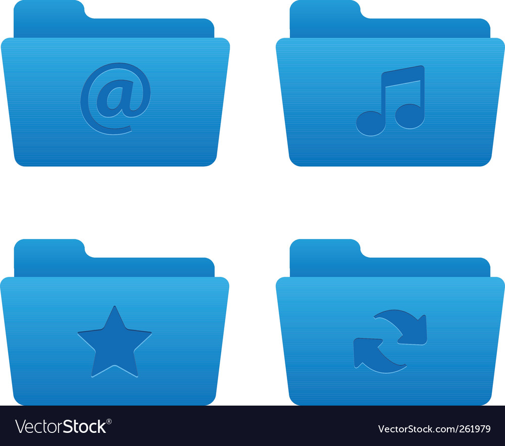 01 blue folders internet icons vector | Price: 1 Credit (USD $1)