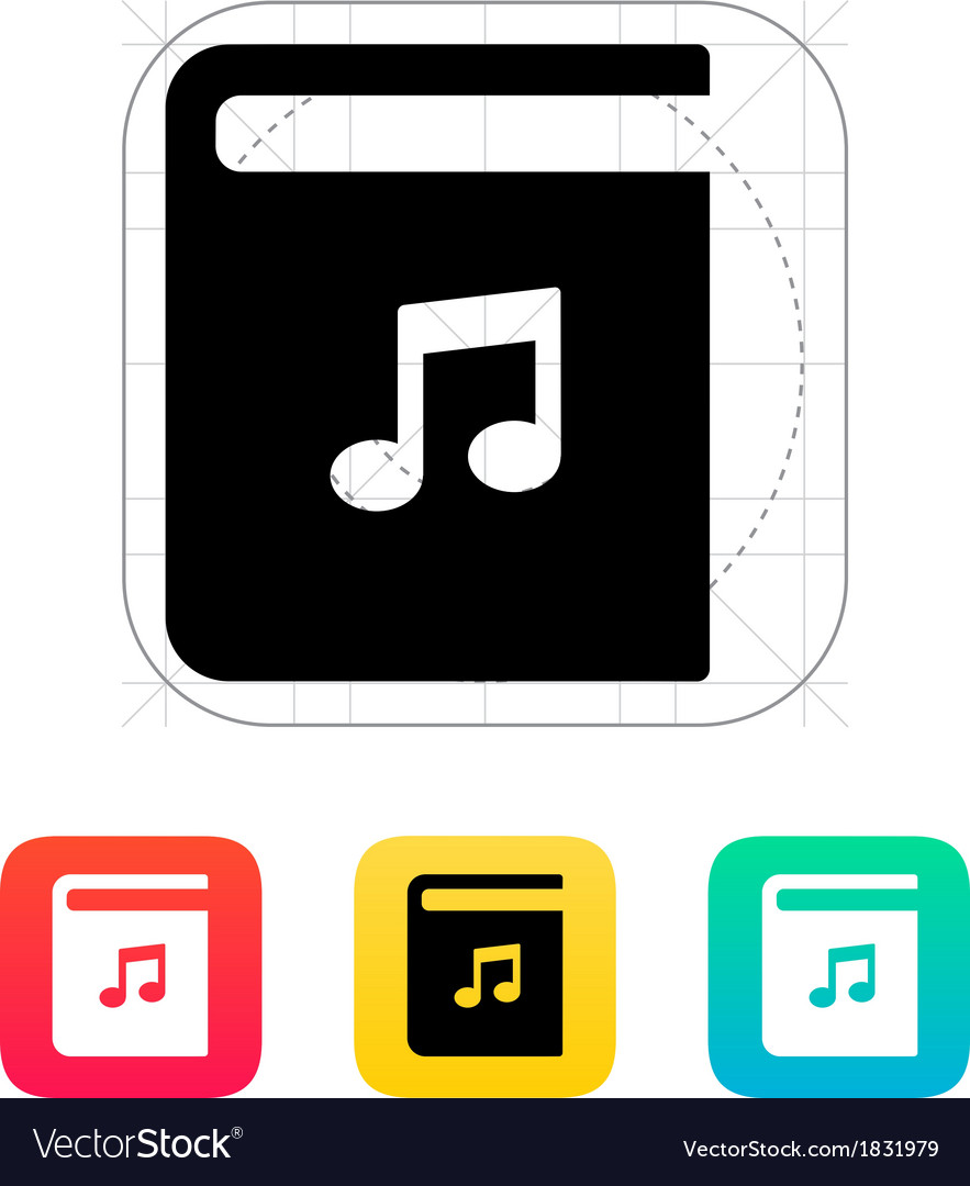 Audio book icon vector | Price: 1 Credit (USD $1)