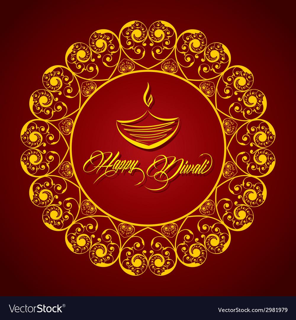 Creative diwali greeting vector | Price: 1 Credit (USD $1)