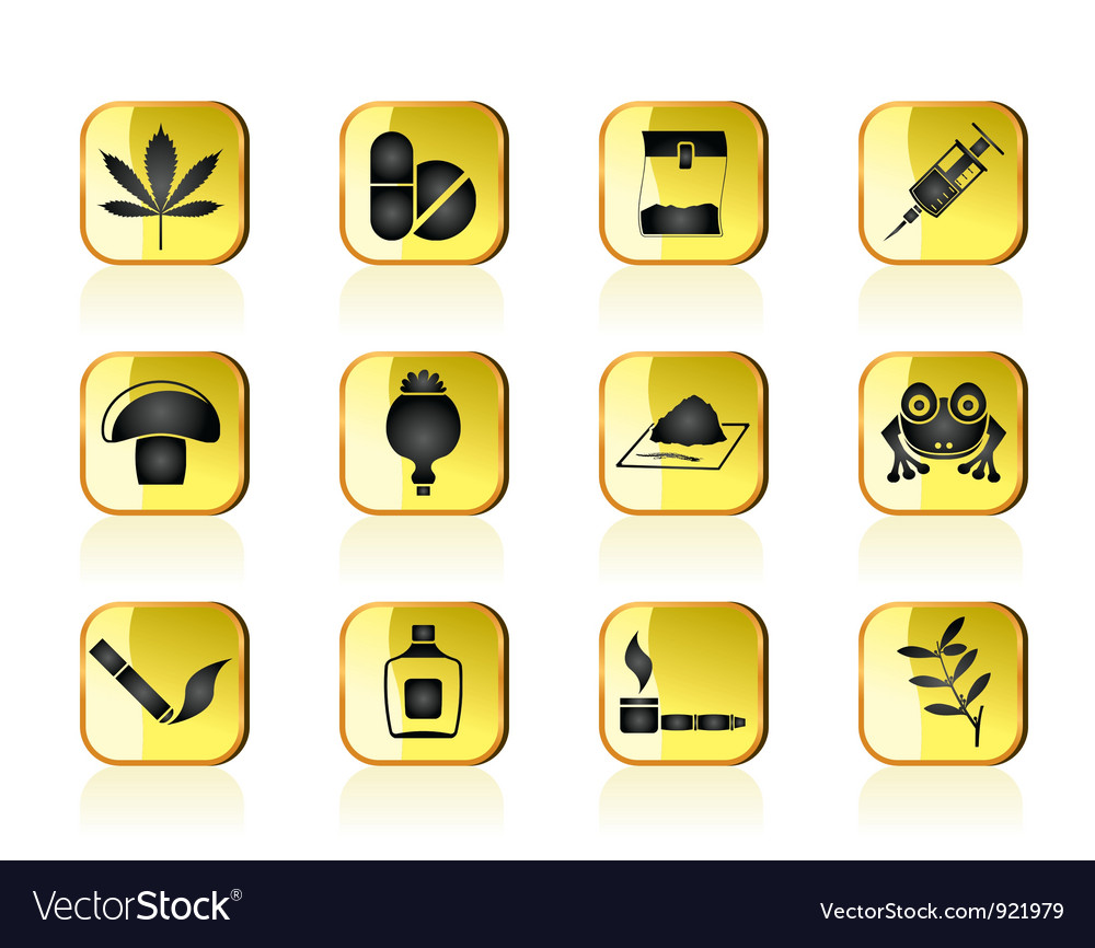 Different kind of drug icons vector | Price: 1 Credit (USD $1)