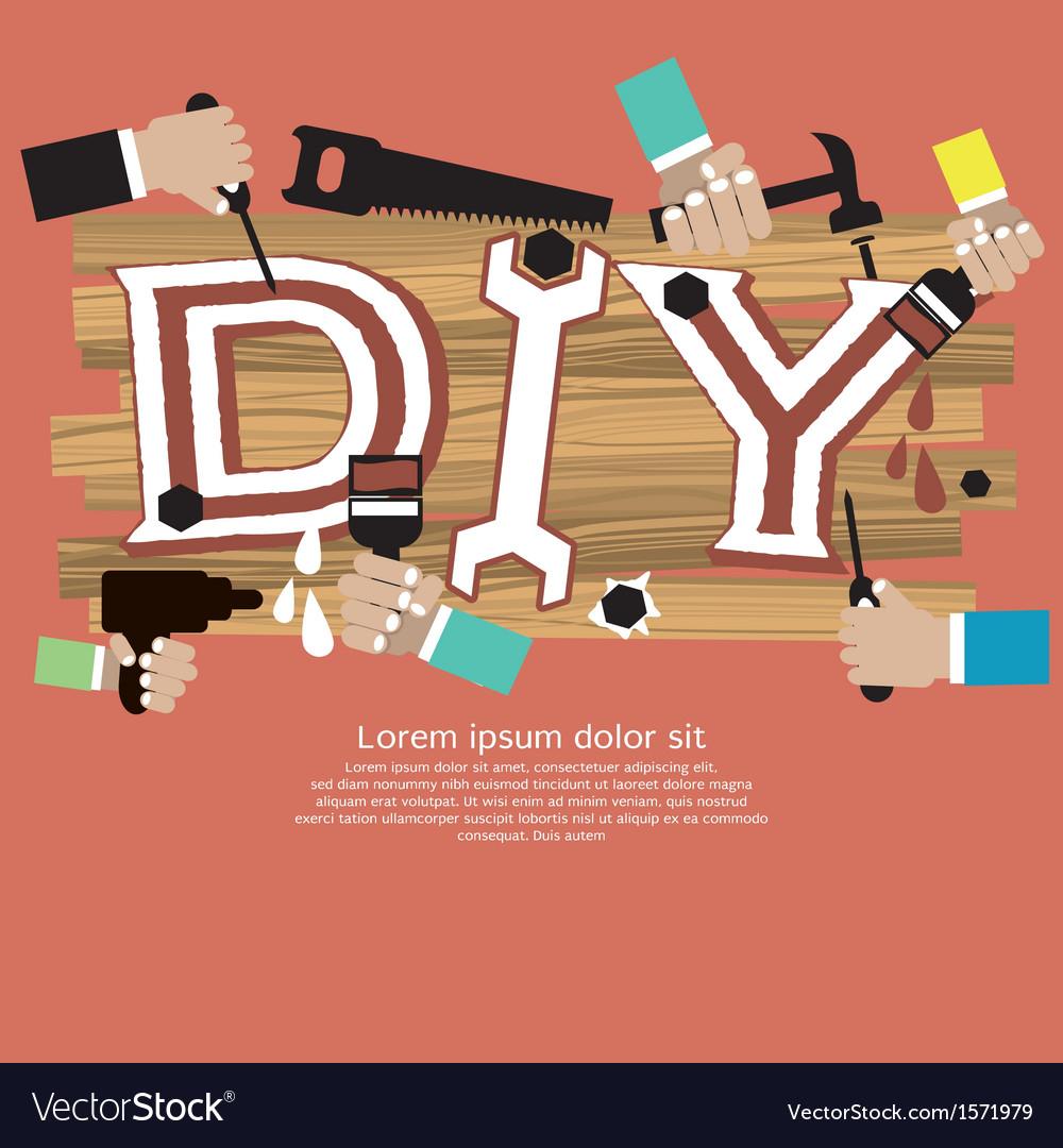 Diy concept eps10 vector | Price: 1 Credit (USD $1)