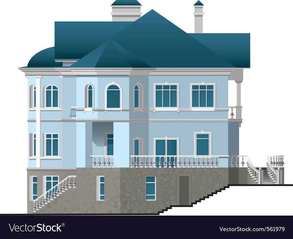 Facade house vector | Price: 3 Credit (USD $3)